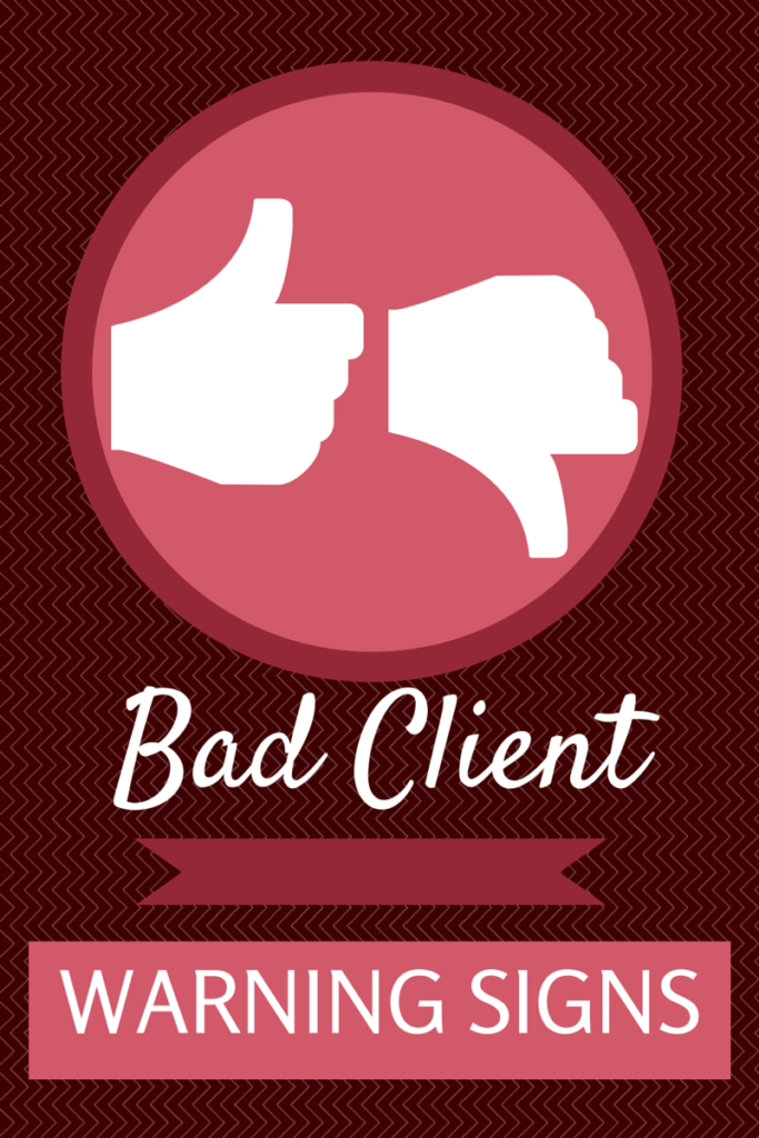 bad client signs